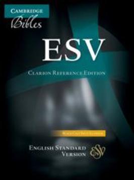 ESV Clarion Reference Bible, Black Calf Split Leather