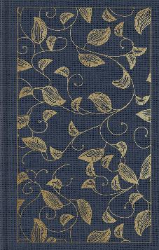 ESV Student Study Bibl:e: Cloth over Board, Navy, Vine Design